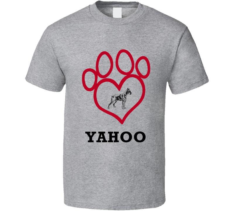 Yahoo Boxer Heart Love Best Friend Heart T Shirt