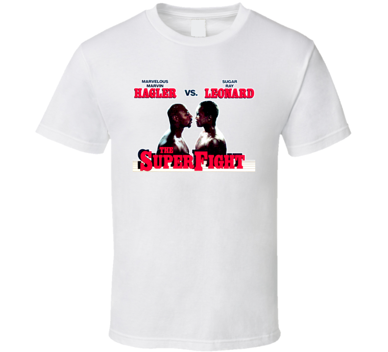 Marvelous Marvin Hagler Vs Sugar Ray Leonard Boxing T Shirt