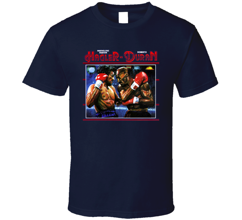 Marvin Hagler Vs Roberto Duran Classic Fight Boxing T Shirt