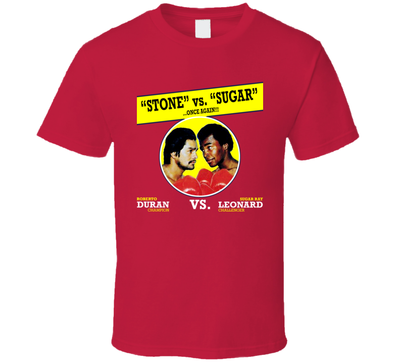 Roberto Duran Vs Sugar Ray Leonard Classic Fight Boxing T Shirt