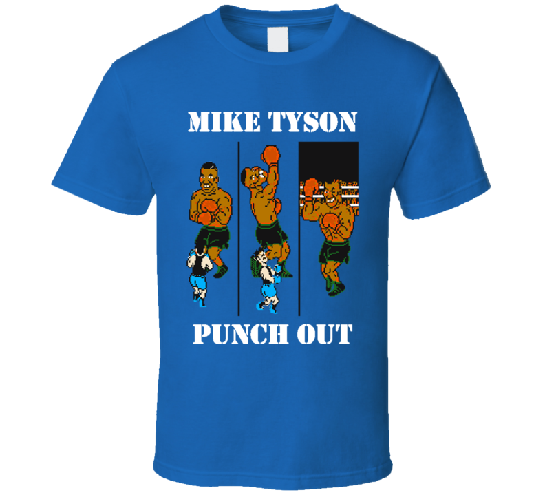 Mike Tyson Punch Out Retro Video Game Boxing T Shirt
