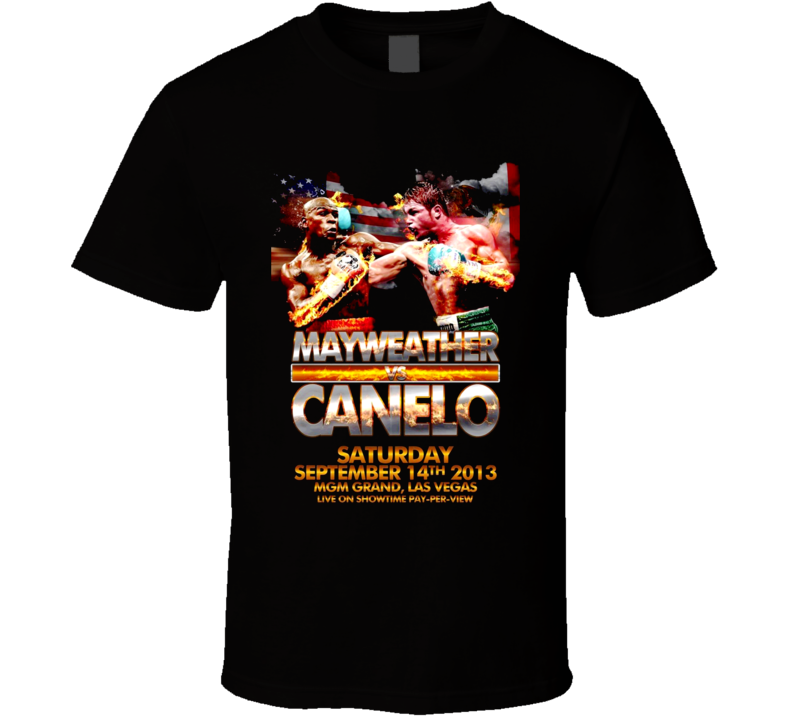 Floyd Mayweather Vs Saul Canelo Alvarez Fight Poster Boxing T Shirt