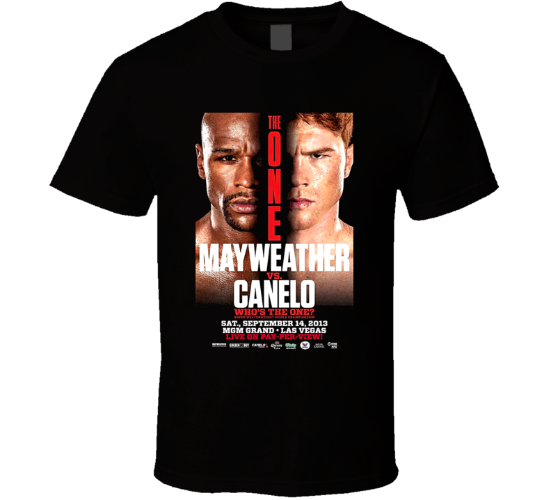 Floyd Mayweather Vs Saul Canelo Alvarez Sept 14th Fight Poster Boxing T Shirt