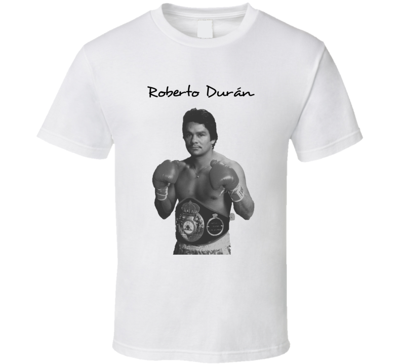 Roberto Duran Hall Of Fame Boxing Legend Retro Boxing T Shirt