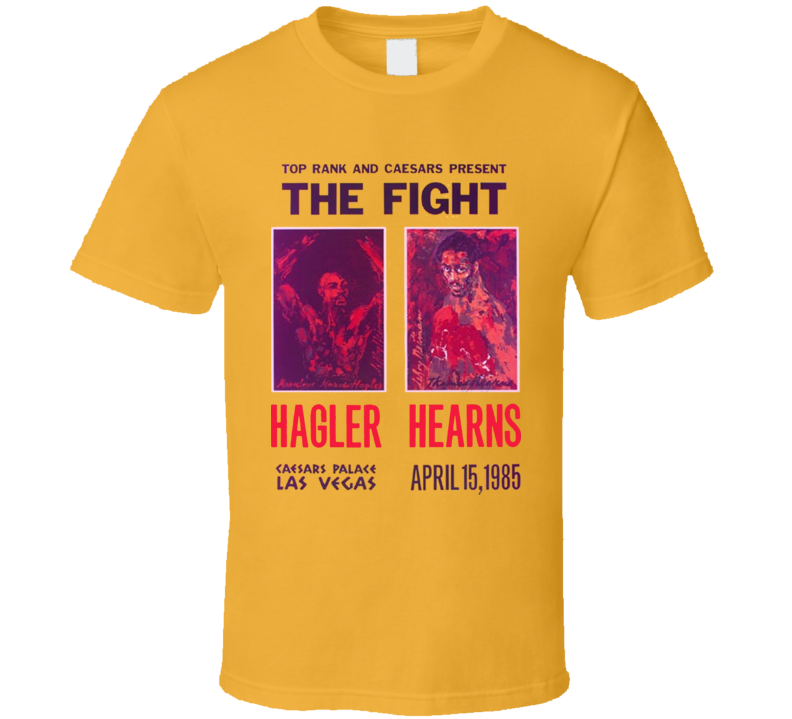 Thomas Hearns Vs Marvin Hagler The Fight Retro Boxing T Shirt