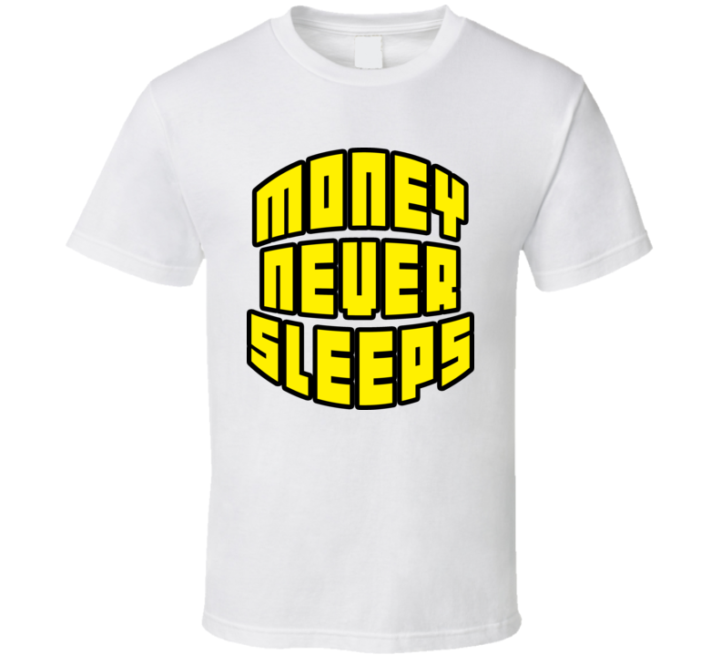 Floyd Mayweather Jr Money Never Sleeps Boxing T Shirt