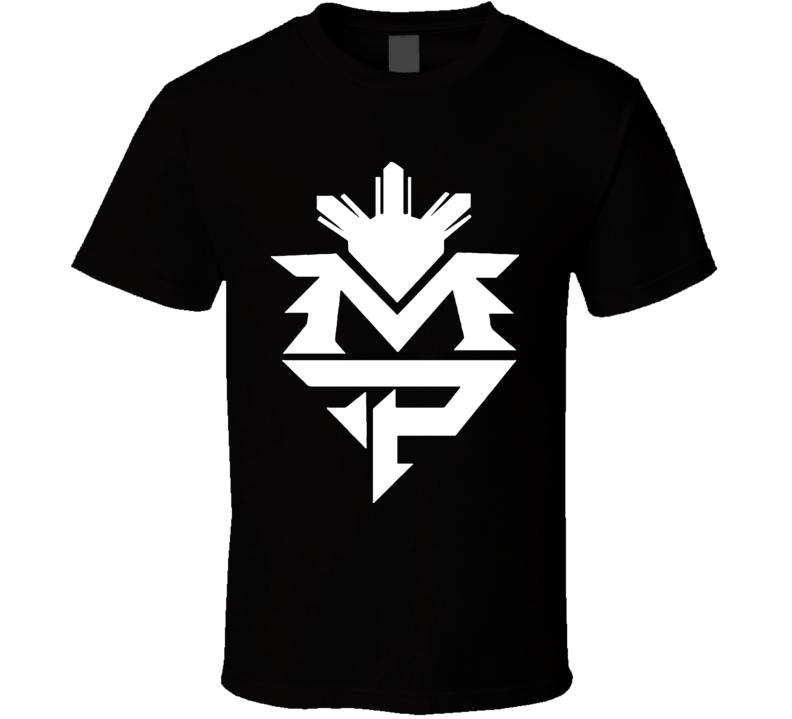 Manny Pacquiao Pac Man MP Crest Boxing T Shirt