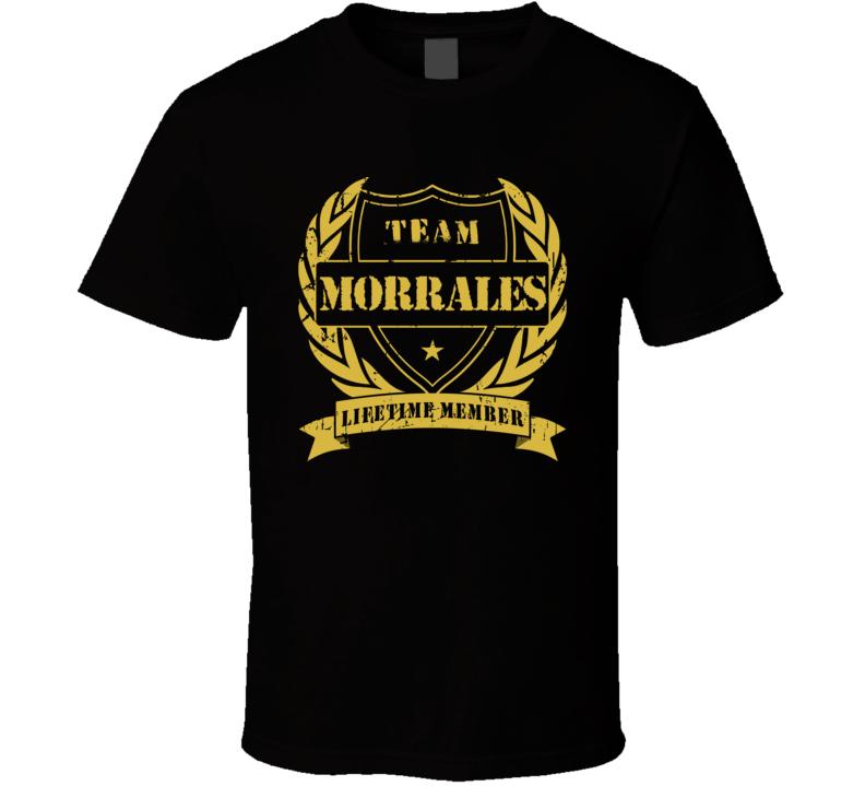 Erik Morrales Team Morrales Lifetime Member Boxing T Shirt