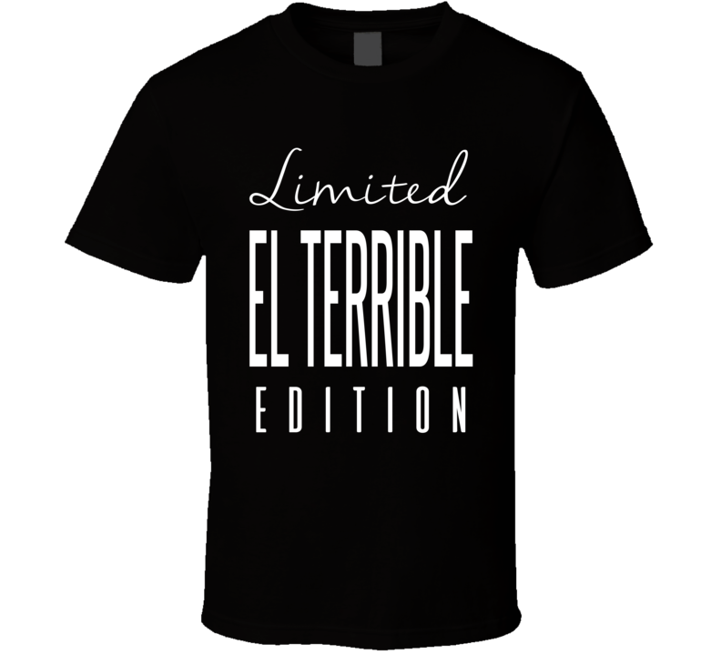 Erik Morales El Terrible Limited Edition Boxing T Shirt