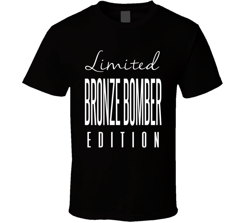 Deontay Wilder The Bronze Bomber Limited Edition Boxing T Shirt