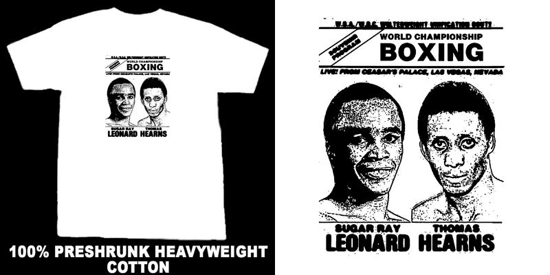 Hearns Vs Leonard Retro Boxing T Shirt