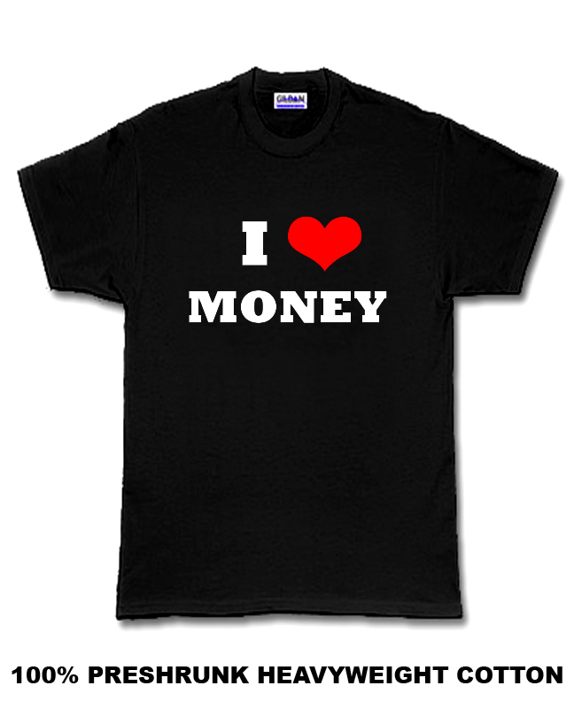 Floyd Mayweather Jr I Heart Money Money Team Boxing T Shirt