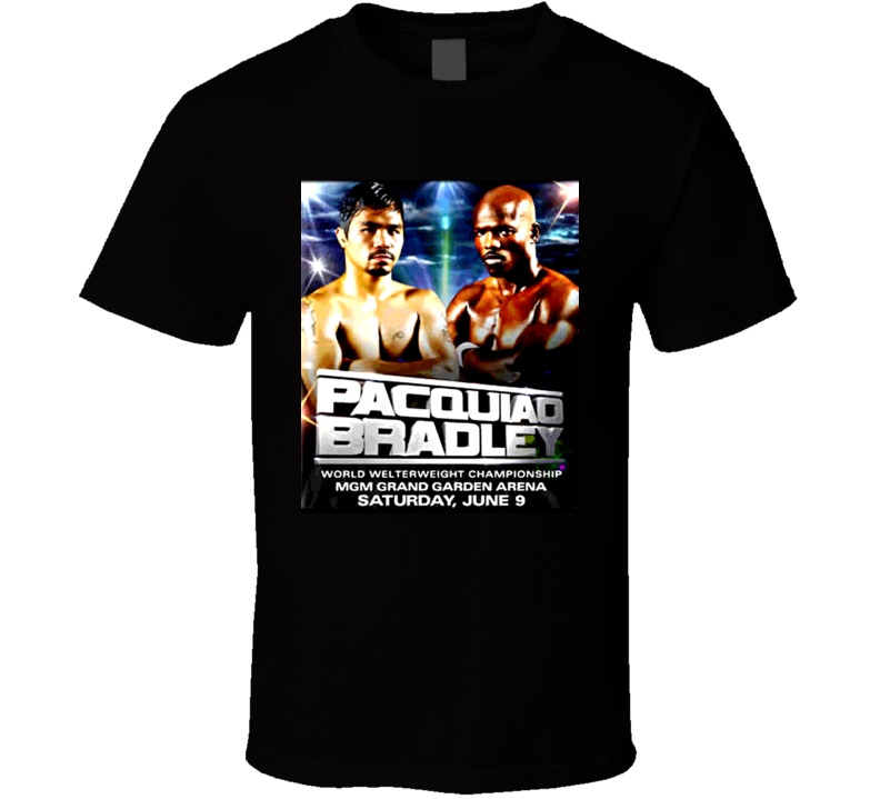 Manny Pacquiao Vs Timothy Bradley Fight Poster Boxing T Shirt