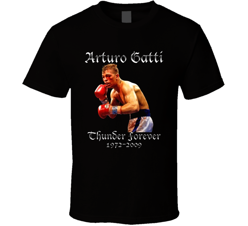 Arturo Gatti Thunder Forever Legend Tribute Boxing T Shirt