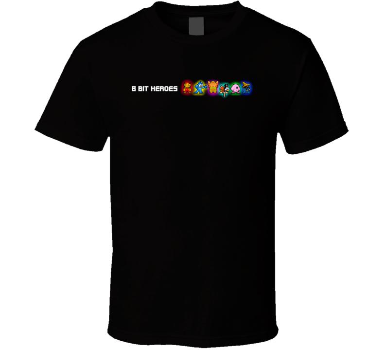 8 Bit Heroes Video Game T Shirt