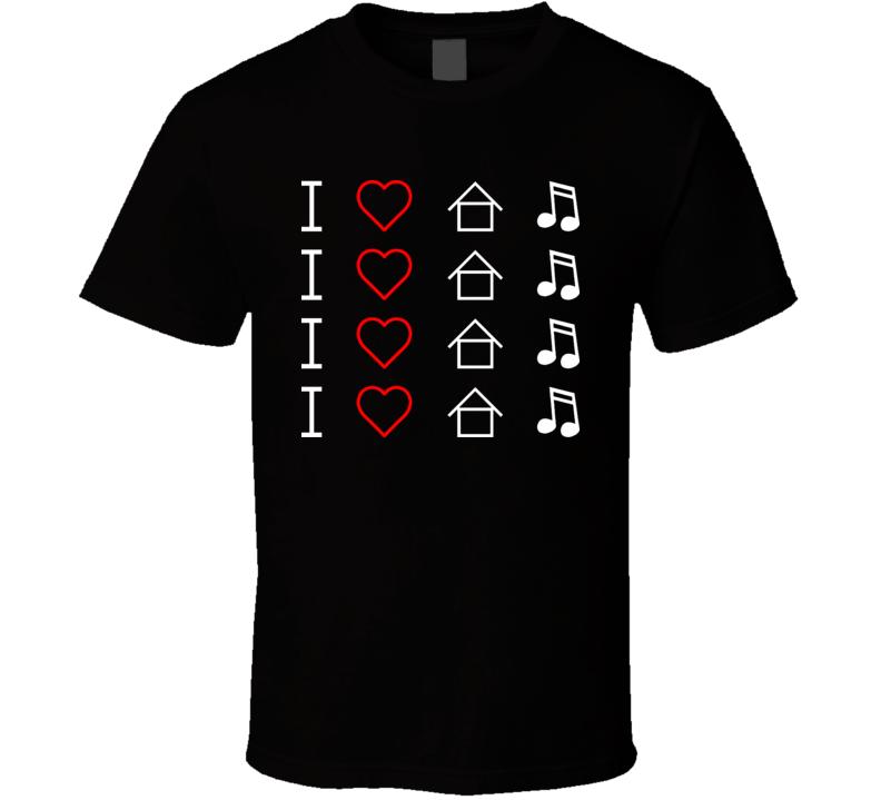 I Heart House Music T Shirt