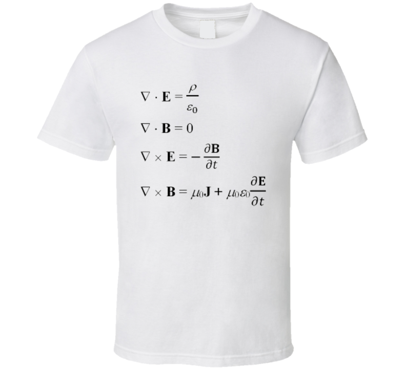 Maxwell's Equations Science Physics T-shirt