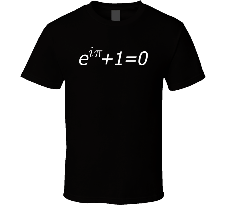Equer's equation math black T-shirt