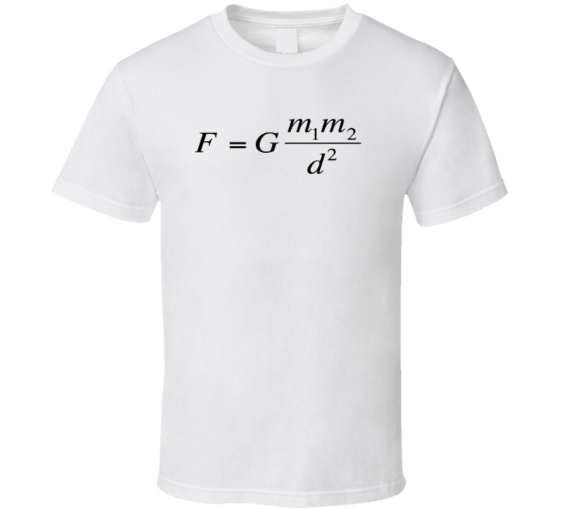 Newton's law of universal gravitation  T Shirt