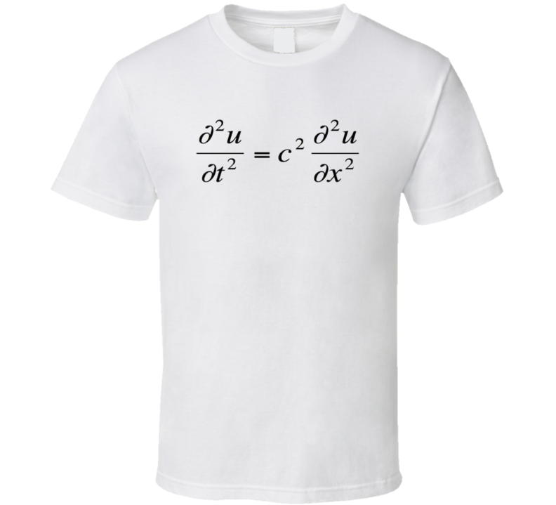 Wave Equation Math Physics T-shirt