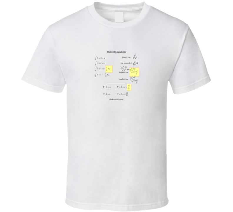 Maxwell's Equations differential integral forms T-shirts T Shirt