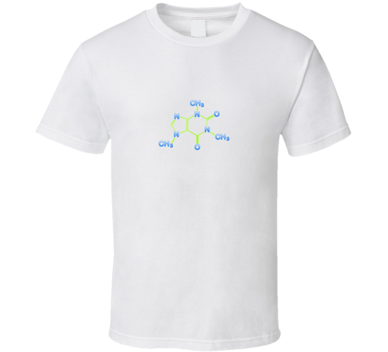 Caffeine Molecule Science Chemistry T Shirt