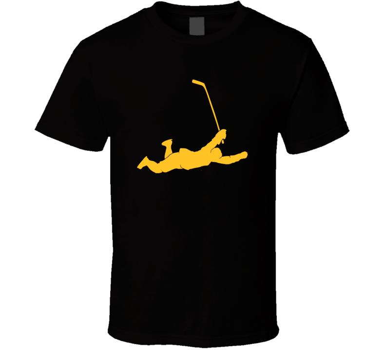 Bobby Orr Flying Goal Dive Famous 1970 Score Silhouette T Shirt
