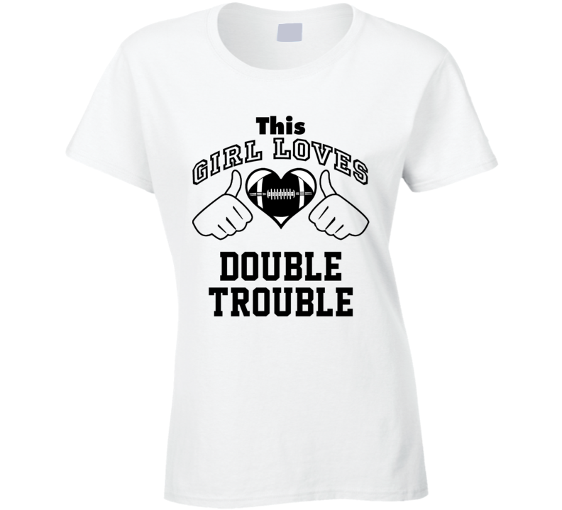 This Girl Loves Double Trouble DeAngelo Williams Jonathan Stewart Football Player Nickname T Shirt