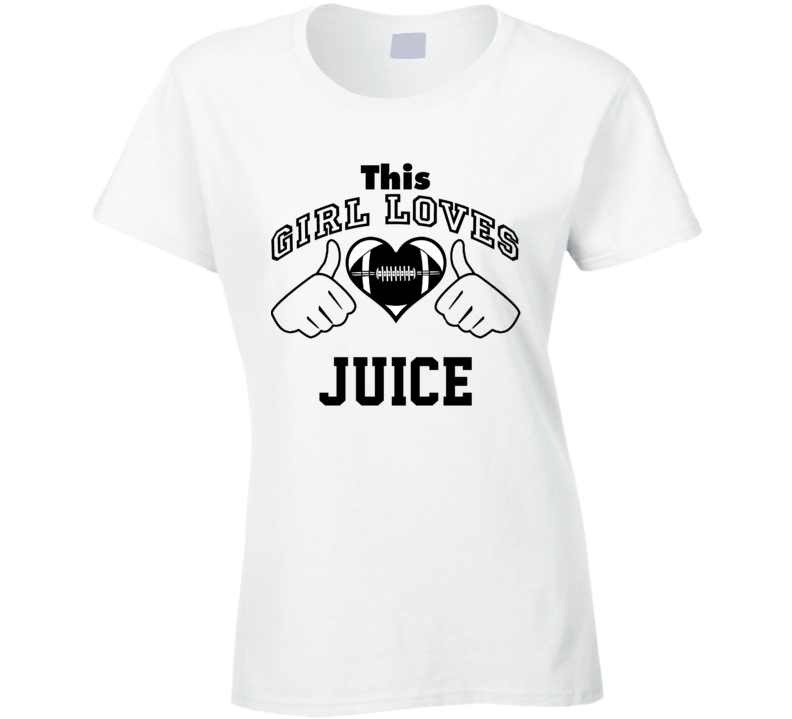 This Girl Loves Juice O. J. Simpson Football Player Nickname T Shirt