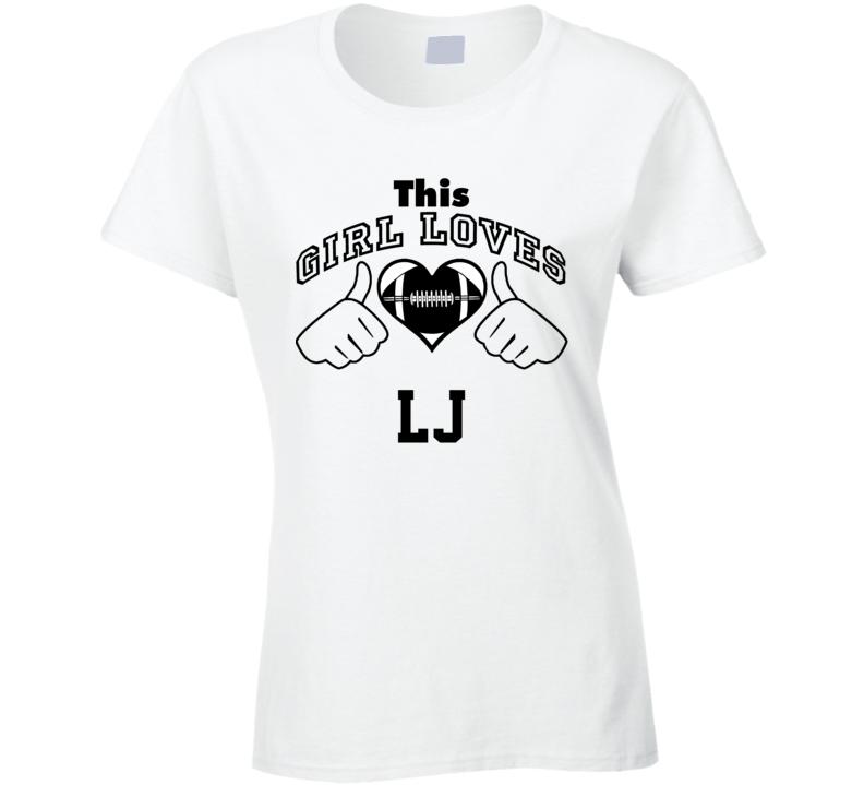 This Girl Loves L.J. Larry Johnson Football Player Nickname T Shirt