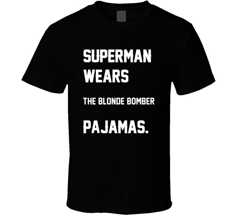 Wears Blonde Bomber Terry Bradshaw Pajamas Football Player Nickname T Shirt