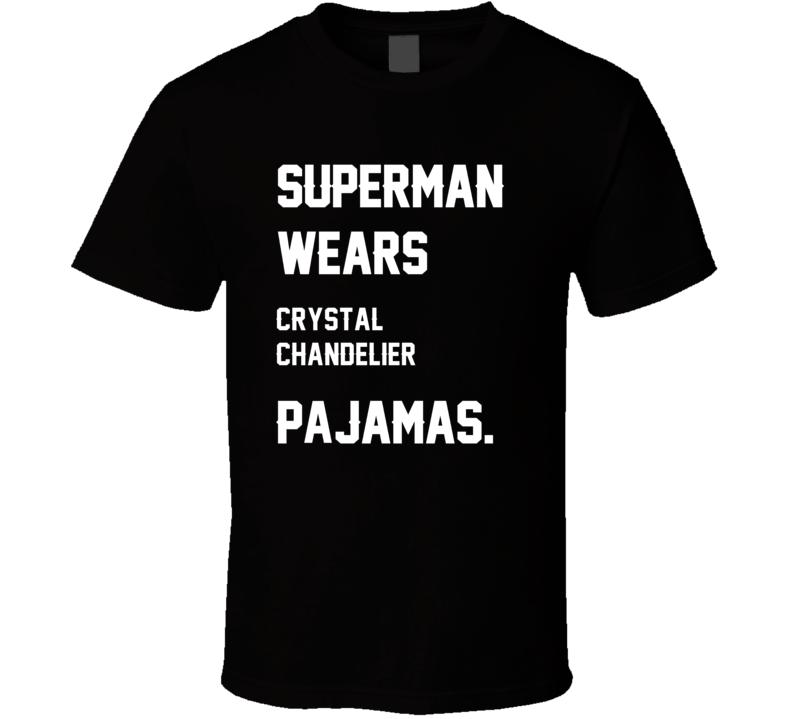 Wears Crystal Chandelier Chris Chandler Pajamas Football Player Nickname T Shirt