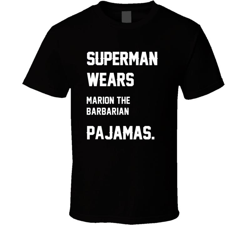 Wears Marion Barbarian Marion Barber III Pajamas Football Player Nickname T Shirt