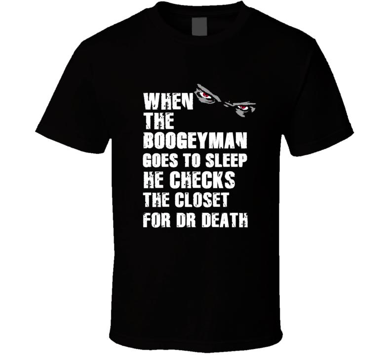 Boogeyman Dr Death Skip Thomas Sports Football Player Nickname T Shirt