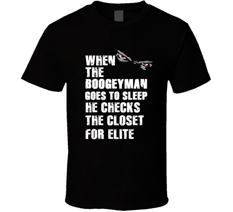 Boogeyman ELIte Eli Manning Sports Football Player Nickname T Shirt
