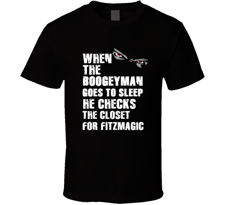 Boogeyman Fitzmagic Ryan Fitzpatrick Sports Football Player Nickname T Shirt