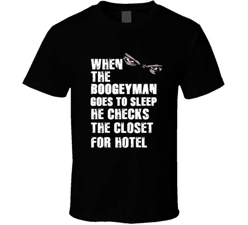 Boogeyman Hotel Flozell Adams Sports Football Player Nickname T Shirt