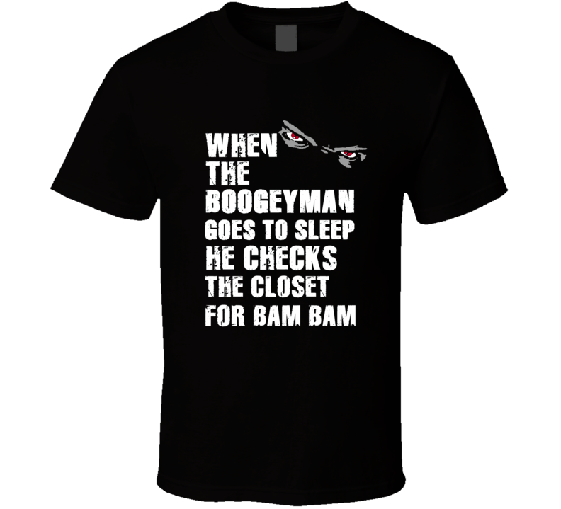 Boogeyman Bam Bam Kam Chancellor Sports Football Player Nickname T Shirt