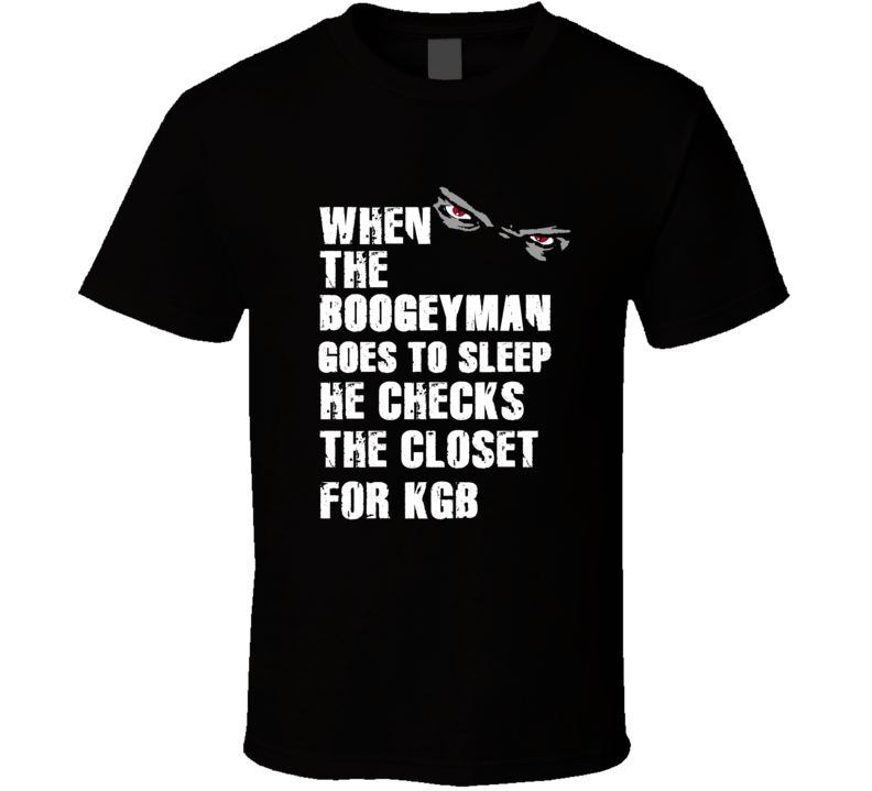 Boogeyman K.G.B. Kabeer Gbaja-Biamila Sports Football Player Nickname T Shirt