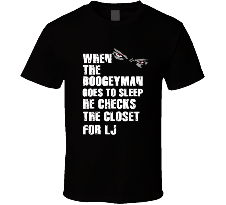 Boogeyman L.J. Larry Johnson Sports Football Player Nickname T Shirt