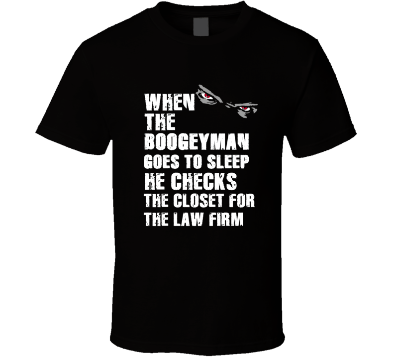 Boogeyman Law Firm BenJarvus Green-Ellis Sports Football Player Nickname T Shirt