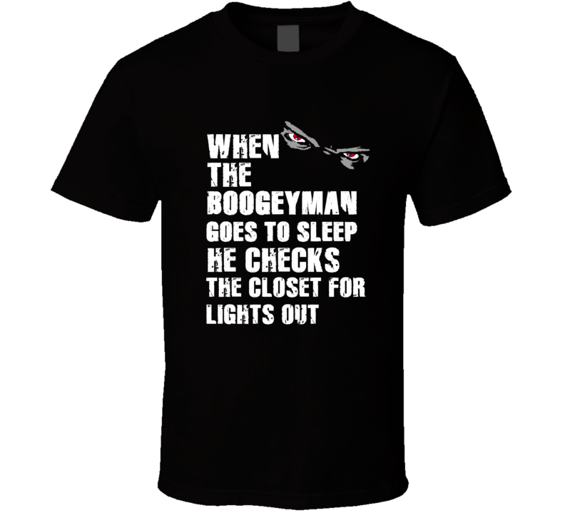 Boogeyman Lights Out Shawne Merriman Sports Football Player Nickname T Shirt