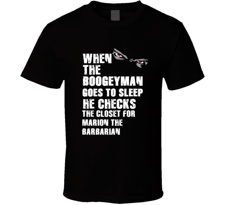 Boogeyman Marion Barbarian Marion Barber III Sports Football Player Nickname T Shirt