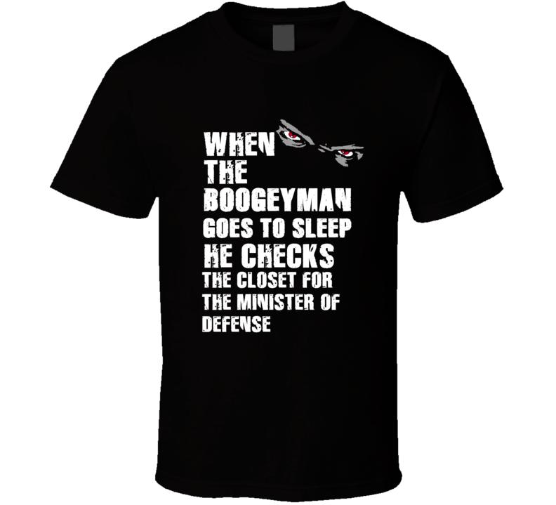 Boogeyman Minister Of Defense Reggie White Sports Football Player Nickname T Shirt