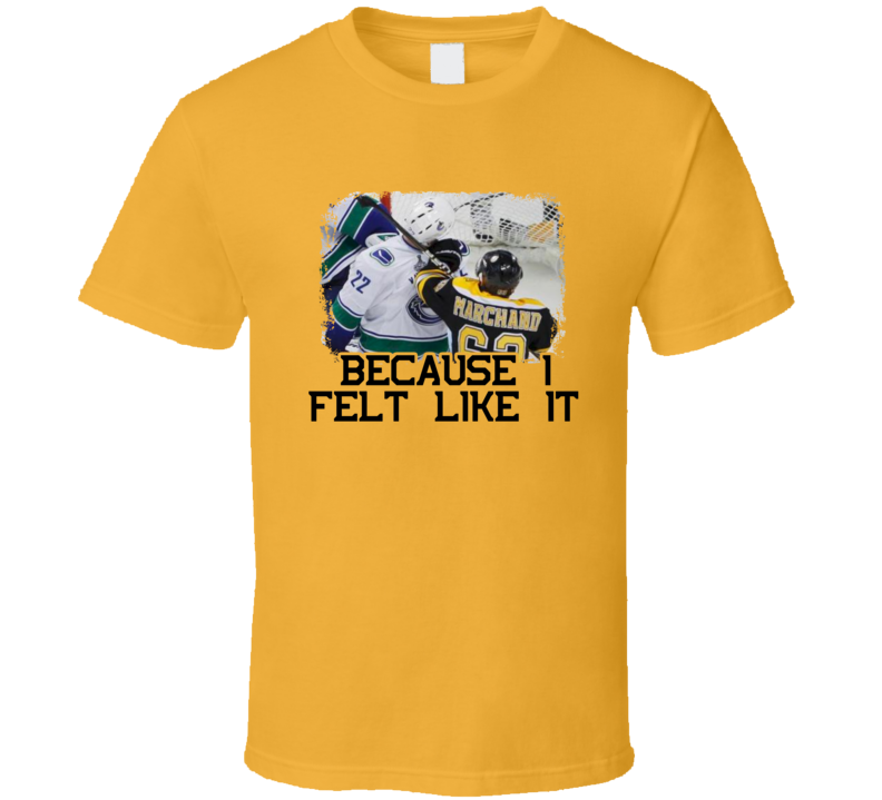 Brad Marchand Punches Sedin In The Face Boston Hockey T Shirt