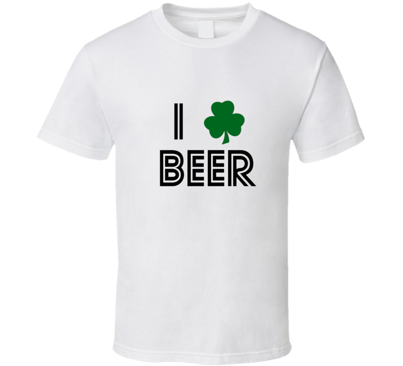 st patricks day i love beer tshirt shamrock