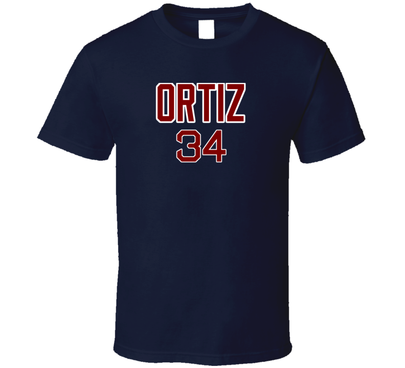 David Ortiz Inspired Boston Baseball Tshirt