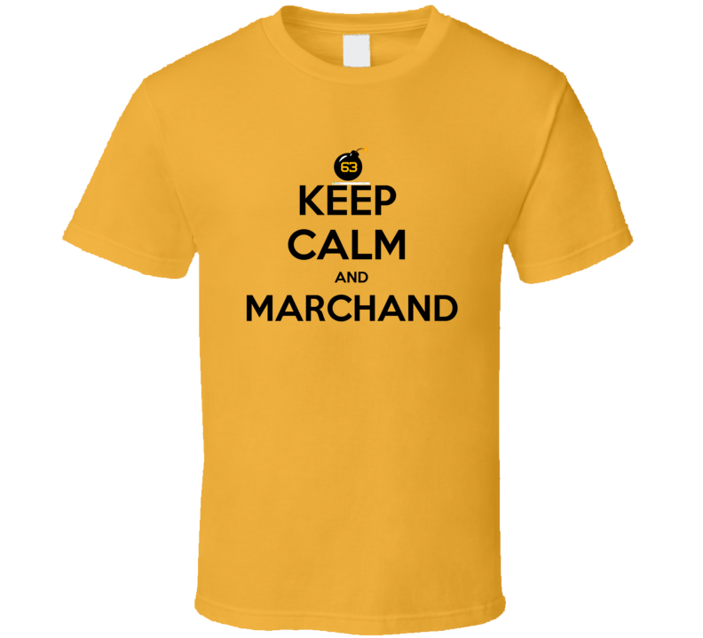 Brad Marchand Boston Hockey Keep Calm and Marchand Tshirt