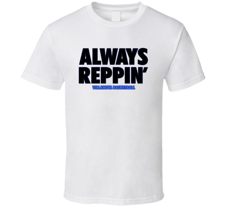 Villanova College Basketball Fan Always Reppin Bench Tshirt