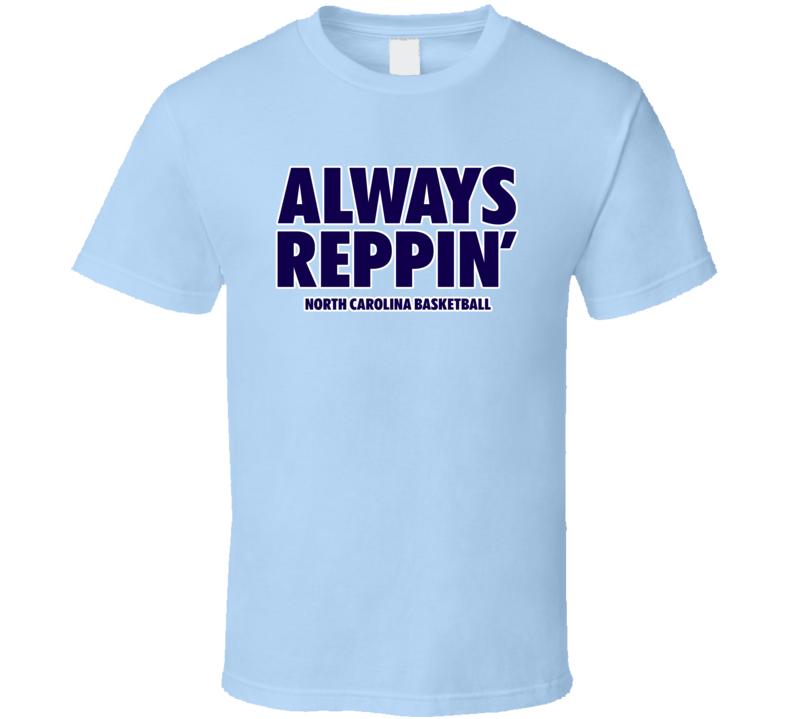 North Carolina College Basketball Always Reppin Light Blue Bench Tshirt